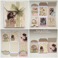 mini book made with scrapbook stencil 6002/0827 from Noor design