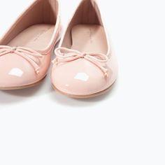 lyserøde ballerinasko