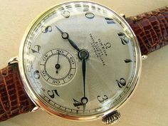 Omega pink gold officer's watch with guilloche dial 1924 Antique Watches, Vintage Watches, Fine Watches, Watches For Men, Omega Seamaster Professional, Expensive Watches, Vintage Omega, Stylish Watches, Watch Brands