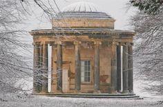 Bramham Park - Round House in snow - built circa 1700