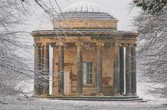 Bramham Park - Rotunda in snow - built circa 1700 - not something many of us can afford these days.