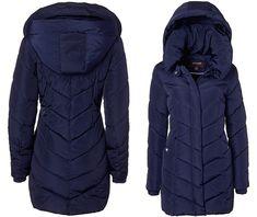 c5ea110351313 Sportoli Womens Winter Fleece Lined Chevron Quilted Puffer Jacket Coat with  Hood