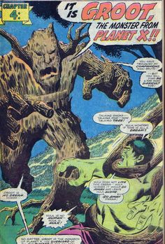 Those were years before Conquest, that Groot was a monstrous villain and the Groot in the Conquest/Guardians is a heroic individual. Description from forums.marvelheroes.com. I searched for this on bing.com/images