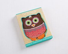 "Boho Girl ""Owl Be Seeing You"" Owl Shaped Luggage Tag"