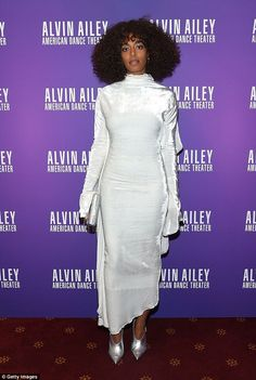 Woman of the hour: Solange Knowles attended the Ailey and Jazz opening night gala at New York City Center on Wednesday