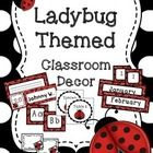 Create a welcoming environment with this ladybug themed bundle. In this bundle you will find: -desk plates -picture holders -word wall headers -cal. Red Classroom, Classroom Labels, Classroom Setup, Preschool Classroom, Preschool Decor, Classroom Banner, Preschool Curriculum, Classroom Organization, Classroom Management