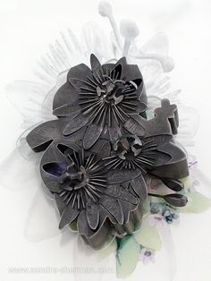 steel brooch with presentation 'corsage' box from 'Anthophobia: Fear of Flowers'