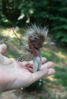 elf fairy - his hair reminds me of a hedge hog