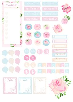 Free Printable Floral Planner Stickers from Mama's Gone Crafty