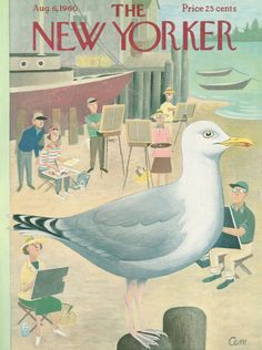 Charles E. Martin : Cover art for The New Yorker 1851 - 6 August 1960