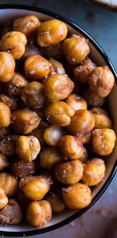 Salt & Vinegar Roasted Chickpeas #snackattack #healthy @blog