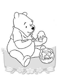 Desenhos para colorir para crianças. Desenhos para imprimir e colorir Winnie the Pooh 23