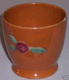 COORS POTTERY ROSEBUD ORANGE EGGCUP