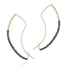 Haematite Bow Earrings | Hirotaka | Wolf & Badger
