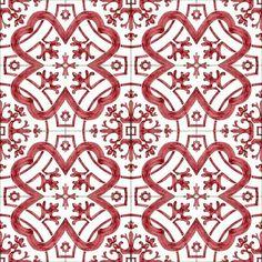 Red Basic Tile Wallpaper, Wall Colors, Tiles, Ceramics, Red, Handmade, Room Tiles, Ceramica, Pottery