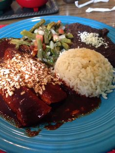 Cascabel Mexican Patio. Best Mexican food in town. Mole poblano.