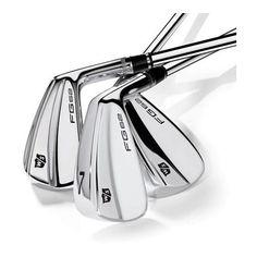 Wilson Irons £529 Wilson Golf, Iron Steel, Irons, Golf Clubs, Gold, Steel, Iron