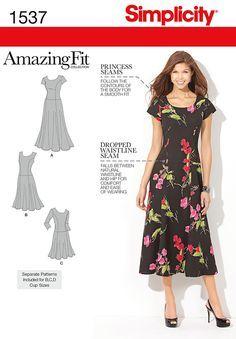 Simplicidad Creative Group - Misses 'y más el tamaño increíble vestido Fit