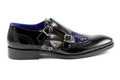4059 RINAS COUTURE SHOES 3262-03 SCARP UOMO ALISEO NERO+ TESSU Men's Shoes $495.00