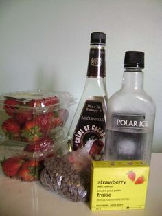 Picture of Chocolate Strawberry Jello Shots Booze Drink, Cocktail Drinks, Food And Drink, Cocktails, Strawberry Jello Shots, Strawberry Jelly, Vodka Red, Making Jello Shots, Polaroid
