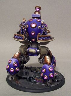 Bring out your Battle Engines. - Not a model I care for, but the highlights on the purple.