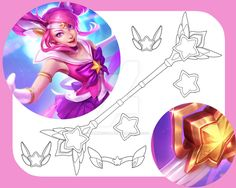 Star Guardian Lux - Templates by SamuiCosplay