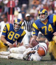 Merlin Olsen (74) and Fred Dryer (89), Los Angeles Rams