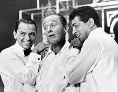 Frank Sinatra, Bing Crosby and Dean Martin