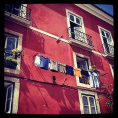 Clothes line in Lisbon, Portugal. - @halloj_inger #IGTravelBook #InstagramTravel #travel