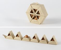 """Some extremely polyhedral design solutions to the problem of how to best package eggs. Not that eggs, themselves do not possess a geometry of their own, but """"egg"""" geometry is parabolic rather than polyhedral. Which is why it's sort of fascinating to see what alternative containers can be constructed for eggs from the flat planes … … Continue reading →"""