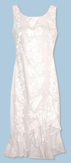 Hanalei hawaiian wedding dress jade fashion aloha wear for Hawaiian wedding dresses with sleeves