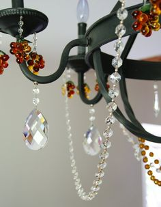 77 best diy chandelier inspiration images on pinterest diy chandeliers with magnetic chandelier garland transform a bland farm house chandelier into a crystal aloadofball Gallery