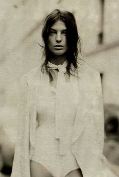 """""""True Romance"""" Daria Werbowy photographed by Paolo Roversi for Vogue UK 2007"""