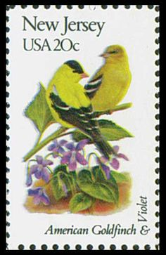 1982 20c New Jersey State Bird & Flower - Catalog # 1982 For Sale at Mystic Stamp Company