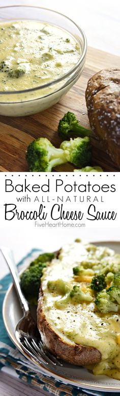 All-Natural Broccoli Cheese Sauce for Baked Potatoes