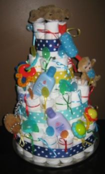 Diaper Cake Baby Shower Boy