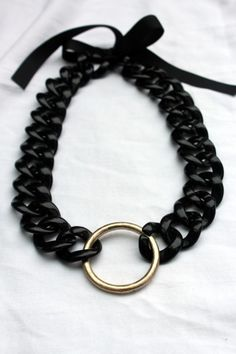 Chunky black chain DIY - dollar store craft