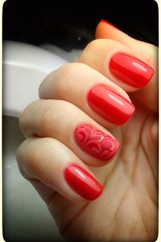 red manicure #red #manicure #love #nails #nailart #beautiful #gelnails #nail #art #naildesign #fashion #gelpolish #nailswag #nailpolish #nailsoftheday Red Manicure, Gel Nails, Swag Nails, Gel Polish, Nailart, Nail Designs, Hair Beauty, Beautiful, Gel Nail