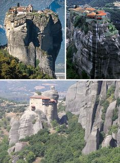 """Meteora in Northern Greek. BBC Boracay says: """" Amazing - build like the nest of the Philippine Eagle.."""""""