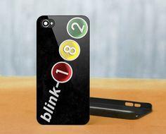 #BLINK 182 #Rock Band Logo, #iPhone 4/4S Black #Case Cover