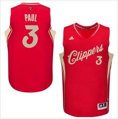 Chris Paul Authentic In Red Adidas NBA Los Angeles Clippers Christmas Day  Men s Jersey 75433f78e