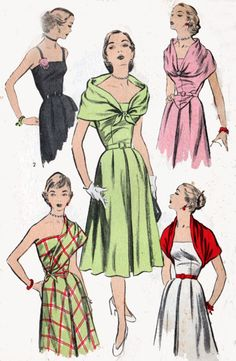 1950s Advance Dress Pattern