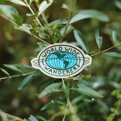 """Vintage-y patch for the little wanderer in all of us. Throw it on your backpack and get outta here! Dimensions // 3"""" x 2"""""""