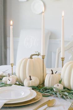 Neutral Fall Tablescape - Home and Hallow