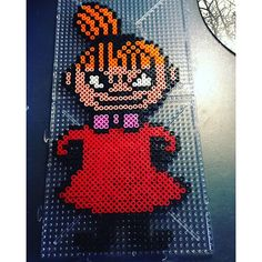 Lilla My - Moomin hama beads by Erica Hama Beads Design, Hama Beads Patterns, Beading Patterns, Bead Crafts, Diy And Crafts, Hama Art, Tapestry Crochet Patterns, Iron Beads, Beaded Cross Stitch
