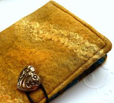 Hand Felted Mini Note Book Cover Pocket Journal by sesenarts, $15.00