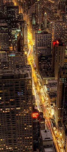 Cruising the Magnificent Mile, Chicago, IL, USA