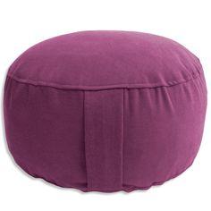 Meditationskissen YogiSan® Magenta ø 33 cm Bezug + Inlett: 100% Baumwolle, ca. 33 cm x 15 cm, 40° C Handwäsche separat, Füllung: Dinkelspelzen kbA
