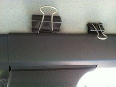 Use binder clips to secure a privacy curtain when sleeping inside your car (like while camping).