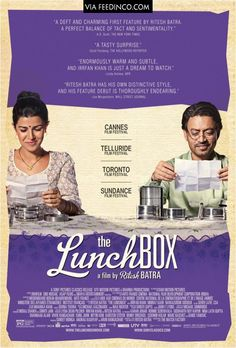 The Lunchbox is a 2013 Indian epistolary romantic film written and directed by Ritesh Batra, It stars Irrfan Khan, Nimrat Kaur and Nawazuddin Siddiqui in lead roles. Beau Film, Irrfan Khan, Hindi Movies, Comedy Movies, Drama, Movie List, Movie Tv, Movie Theater, Disney Pixar